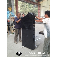 China shanxi black granite tombstone