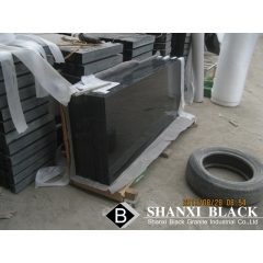 polished shanxi black granite tombstone
