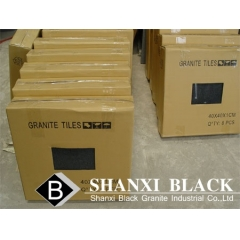 absolute black granite tile 40x40x10mm