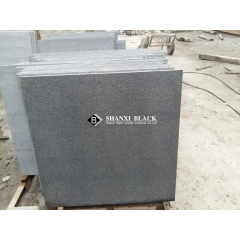 flamed black granite finish shanxi