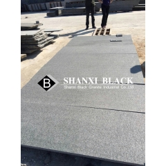 chinese cheap black granite flamed